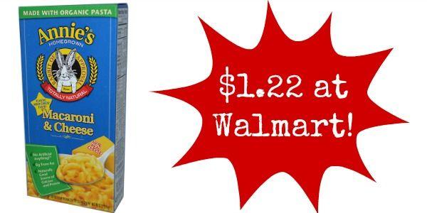 Walmart: Annie's Mac & Cheese Only $1.22!
