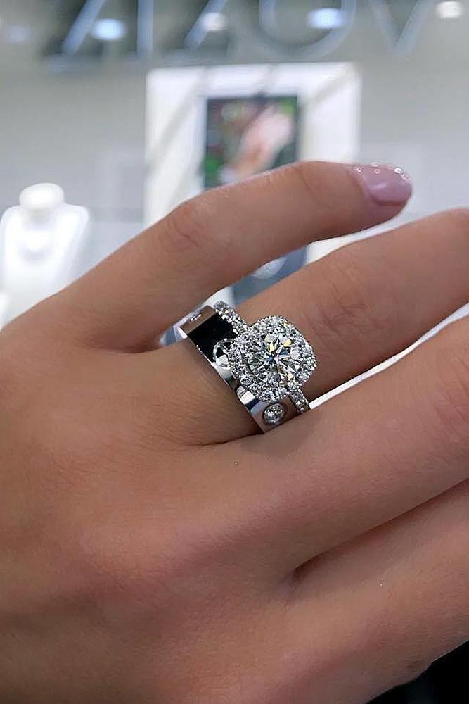 Stunning Bridal Sets That Will Melt Her Heart Wedding Forward Stylish Engagement Rings Popular Engagement Rings Diamond Wedding Bands