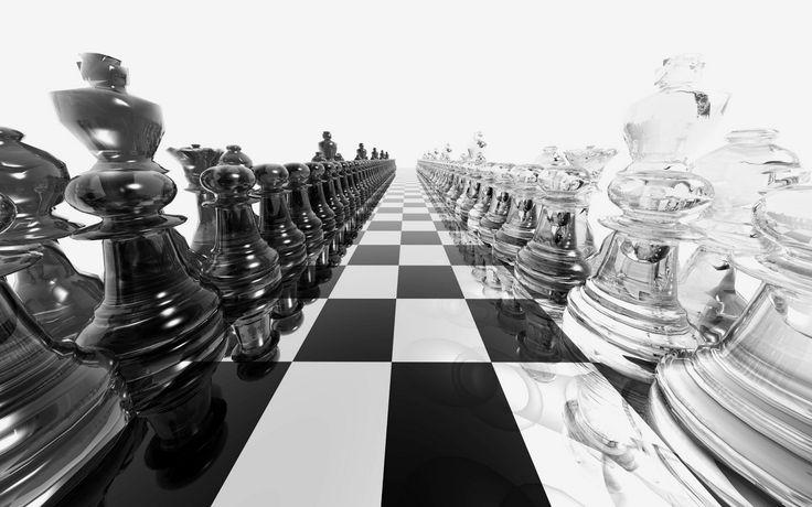 Шахматная доска, размер: 1440x900 пикселей