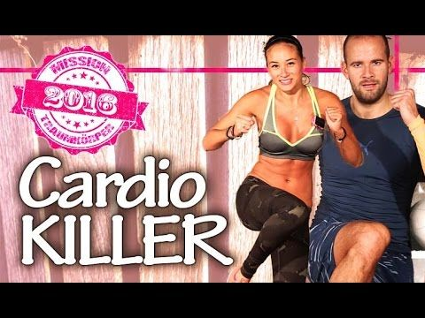 Cardio Workout at home - Fatkiller HIIT - Suitable for all - Mission Dream Body 2016 - Day 6 - YouTube