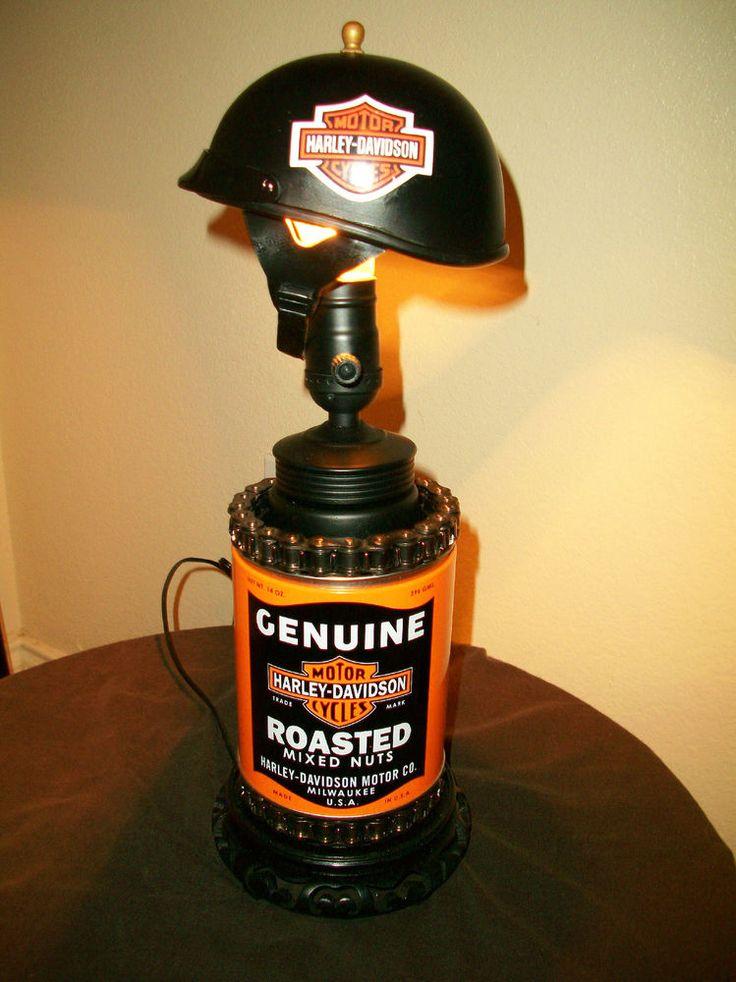 Harley Davidson Oil Can Table Lamp/light, Mancave Pub etc..