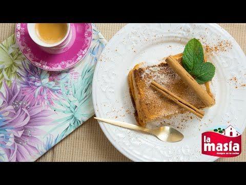 #Pastel de #torrijas. Una forma diferente de disfrutar de este típico #dulce de #SemanaSanta. La #receta, en nuestro blog.