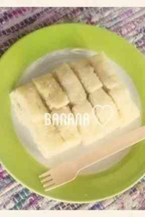 卵不使用レンジdeバナナ蒸しパン★離乳食の画像