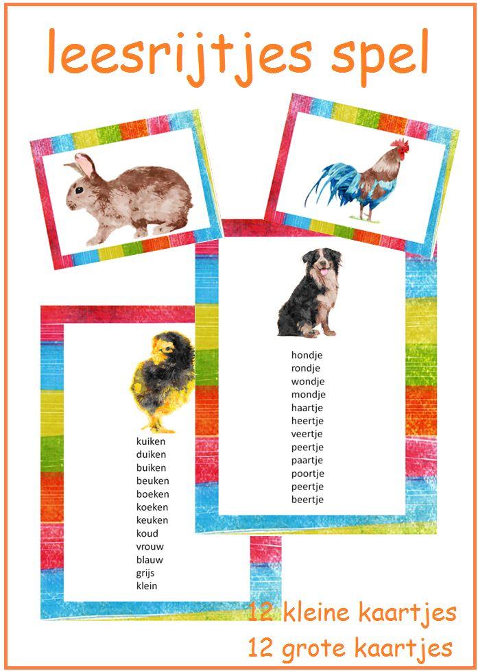 Thema 11. Goed te gebruiken bij Lijn 3 en Veilig Leren Lezen. Leuk spel om de leesrijtjes spelenderwijs te laten lezen.