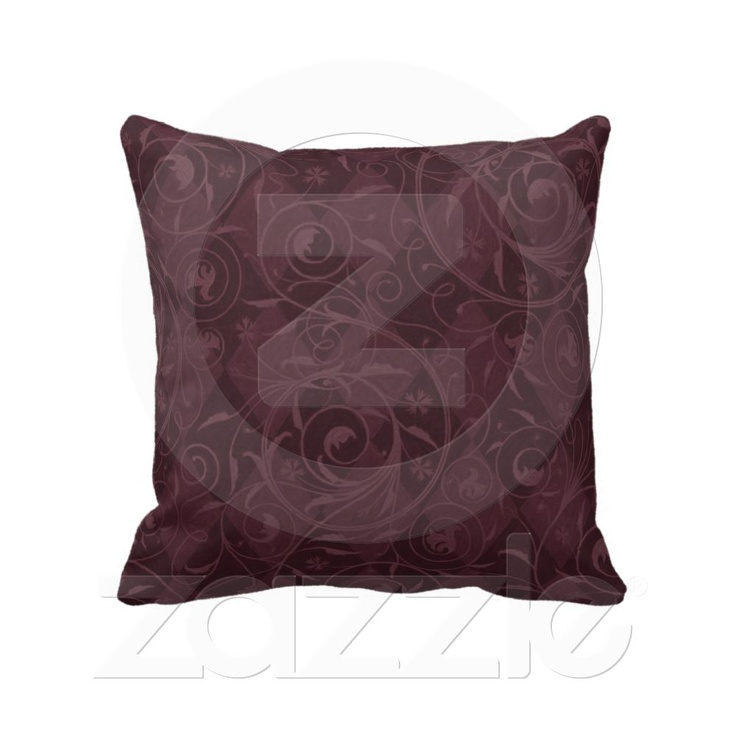 Burgundy Wine Venetian Medley Design Throw Pillow From Zazzle.com. 100%  Grade A