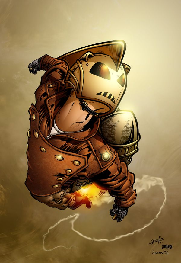 Rocketeer. Recuerdo que hasta motocicleta usaba!!!..., fan
