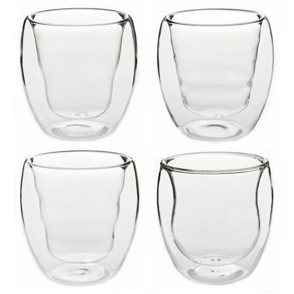Rink Drink Double Walled Thermo Insulated Drinking Glasses - Gift Box of 4