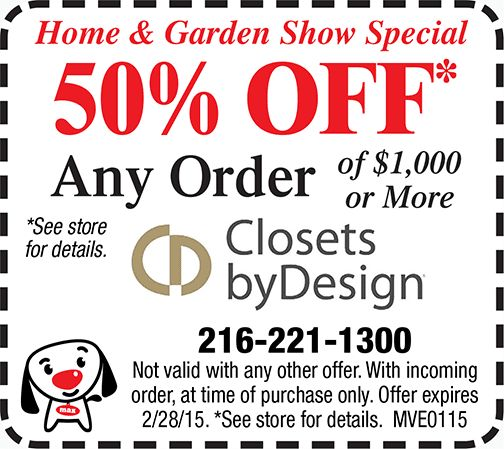 COUPON: 50% OFF Any Order @ Closets By Design Cleveland