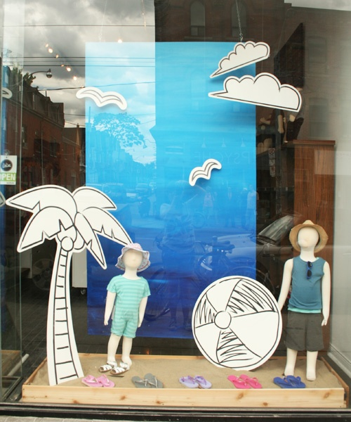 beach themed window