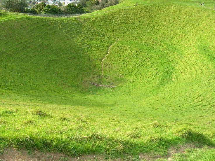 Mount Eden crater in New Zealand