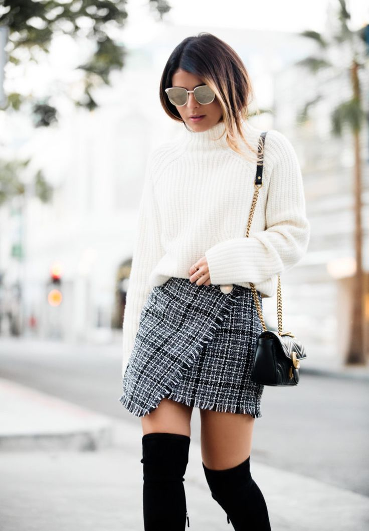A Foolproof Way To Style a Tweed Skirt - The Girl from Panama