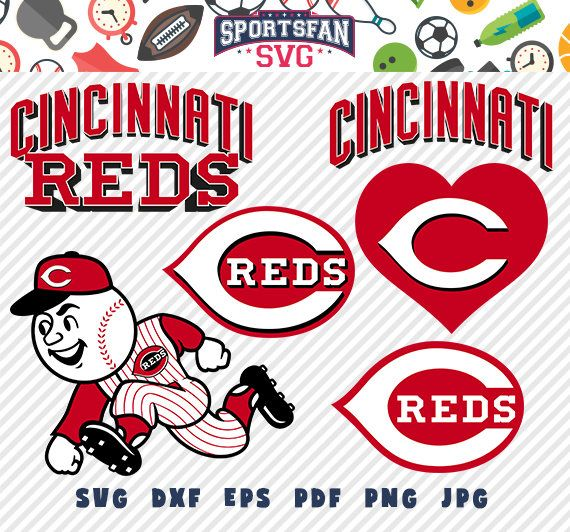 #Cincinnati #Reds #CincinnatiReds #logo svg pack- #baseballteam, #baseballleague, #baseball #cutfiles #vector #clipart #digitaldownload png, jpg, eps, dxf by SportsFanSVG on #Etsy