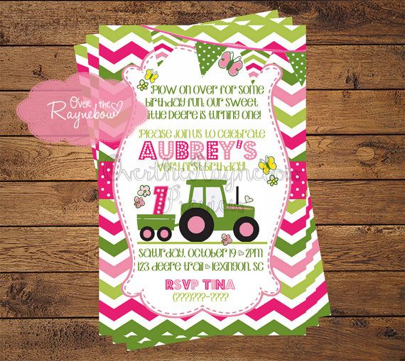 Girl John Deere Birthday Invitation By RaynebowShoppe On