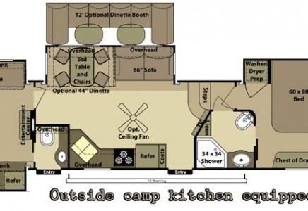 2013 open range roamer rf395bhs fifth wheel camper - Dutchmen infinity front living room ...