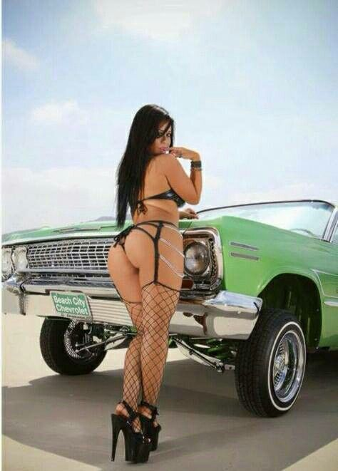 Are Hot lowrider girls on bikes