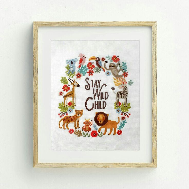 "Dear Sukie Cross Stitch Pattern ""Big Jungle"" #crossstitch #supplies #etsy #dmc #instructions #pattern #embroidery #crafttherapy #handmade #gift #junglenursery  http://etsy.me/2DriYJb"
