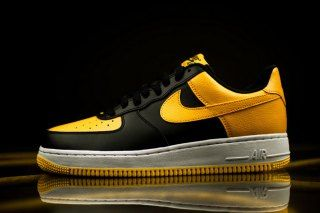 lowest price 3bb13 41b80 Nike Air Force 1 Black University Gold White 820266-011 Mens Sneakers