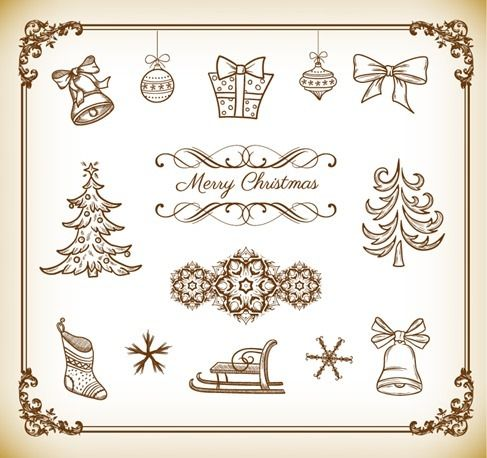 Free vector Vector Collection of Christmas Decoration Element #4593