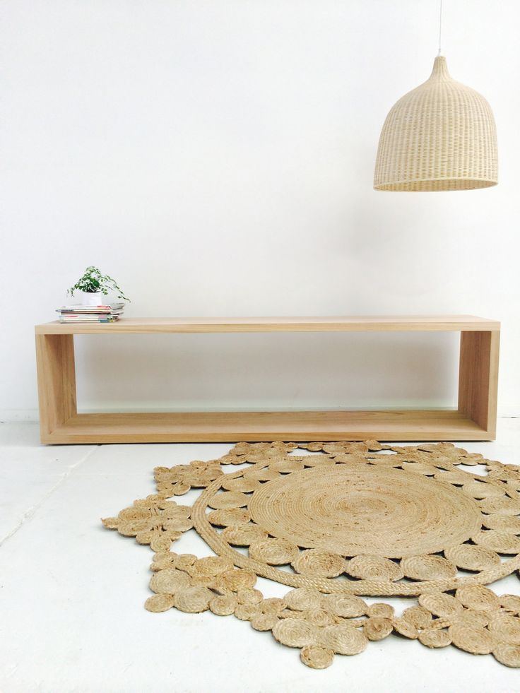 Our Stunning Jute Rug against our minimalistic sideboard - The W O O D R O O M F U R N I T U R E