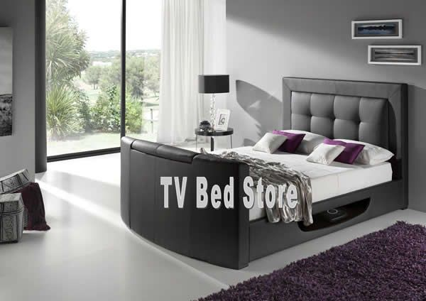 1000 ideas about tv beds on pinterest tv bed frame leather bed and white double bed frame. Black Bedroom Furniture Sets. Home Design Ideas