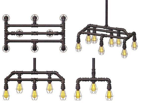 25 best plumbing pipe lights images on pinterest for Vintage loft millhouse