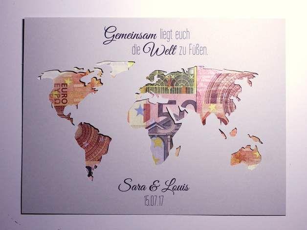 Gemeinsam Liegt Euch Die Welt Zu Fussen Genau Dieses Gefuhl Hat Das Brautpaar An S Hochzeit Geschenk Geld Geldgeschenke Hochzeit Geschenkidee Hochzeit Geld