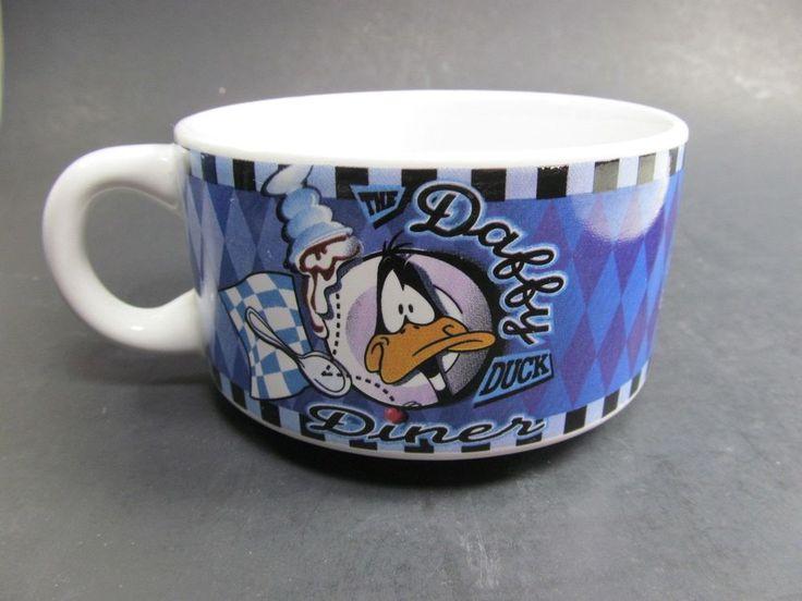 Daffy Duck Diner Soup Mug Crazy Burgers Menu