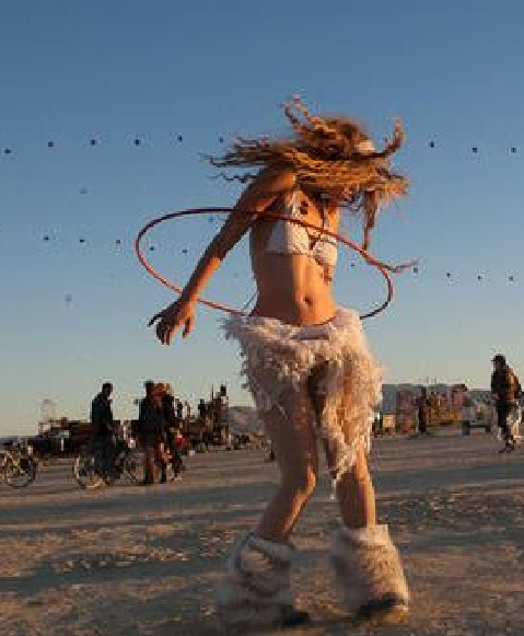 Hula Hoop Burning Man style