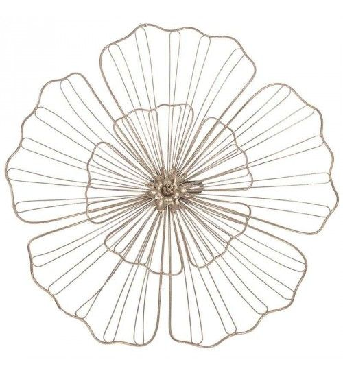 METAL WALL FLOWER IN GOLD COLOR 39X2X39