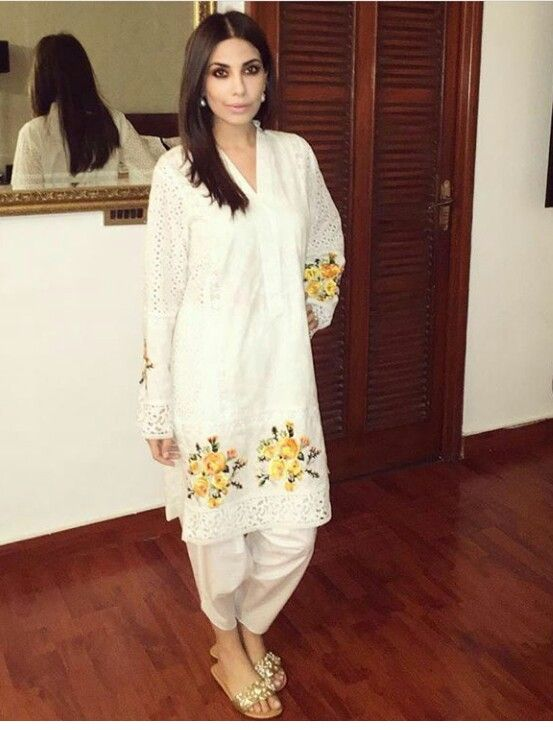 Pakistani designer Maheen Ghani Taseer in an outfit from her own label.