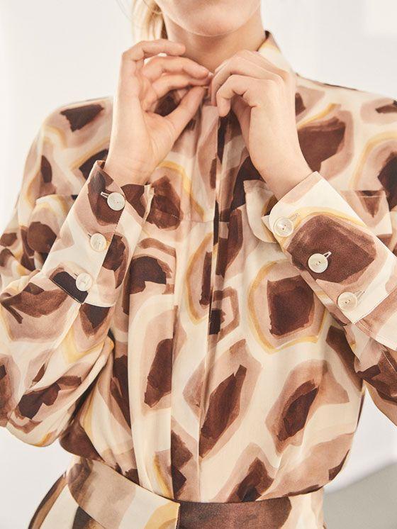887e1fa1 Spring Summer 2018 Women´s LIMITED EDITION GIRAFFE PRINT SILK SHIRT at Massimo  Dutti for 119. Effortless elegance!