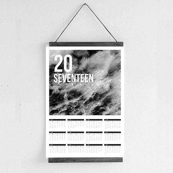 2017 Calendar  Scandinavian Abstract Horse by Hatchesandmatches