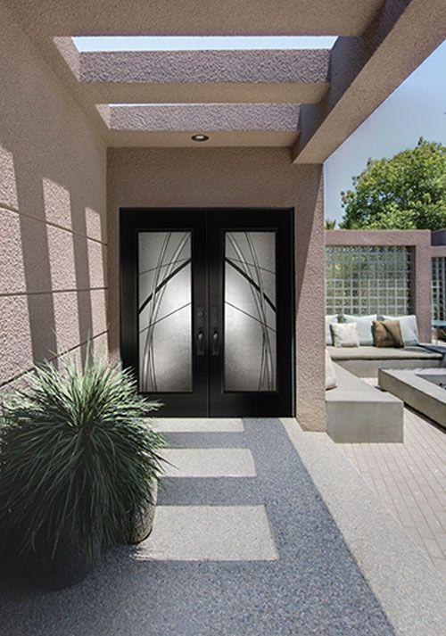 Exterior fiberglass doors with Kordella glass from Belleville Collection & 36 best Badger Exterior Doors \u0026 Millwork images on Pinterest ...