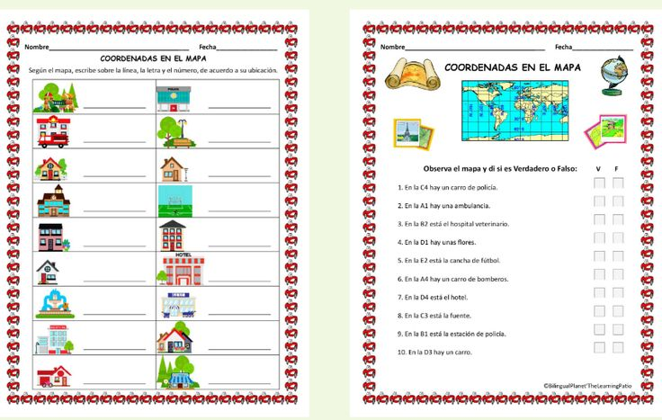 Map Skills The Learning Patio is subscription website for printable dual language materials. International Subscriptions are welcomed and processed through Pay Pal