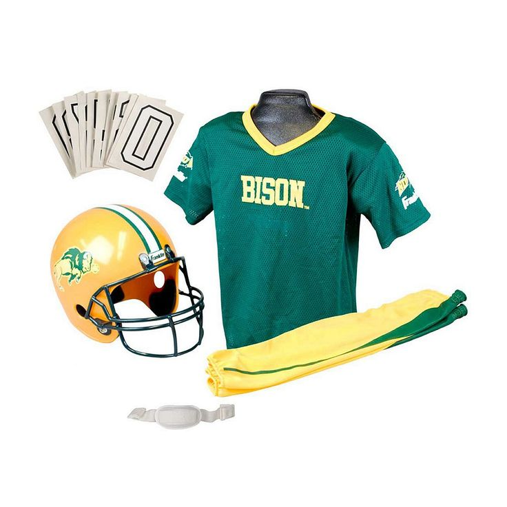 Franklin Ncaa North Dakota State Bison Deluxe Football Uniform Set - Boys, Size: Small, Multicolor