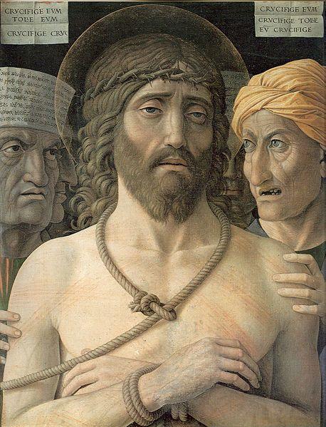 Ecce Homo - Andrea Mantegna.  1502.  Tempera on canvas.  54 x 72 cm.  Musee Jacquemart-Andre, Paris, France.