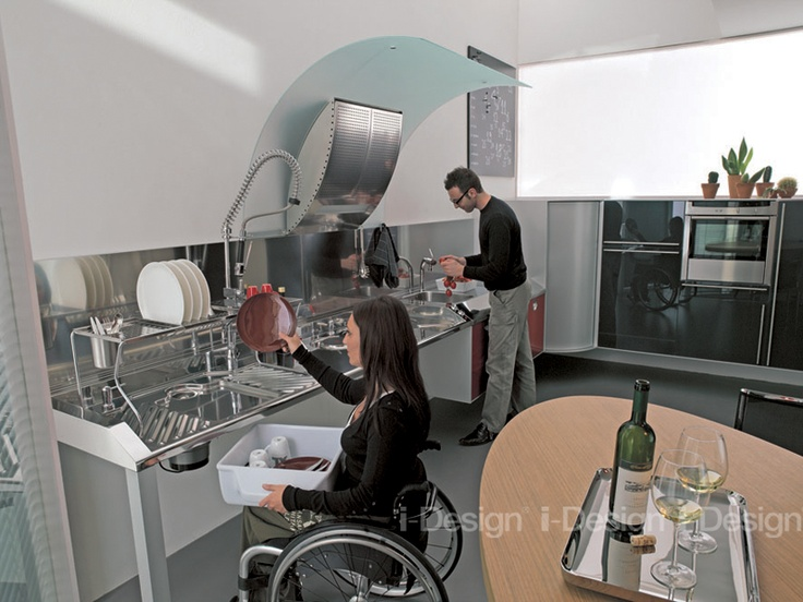#Kitchen accessible for disabilities - Find out more at www.i-designgroup.it/en/design/home-design-266 #accessibility