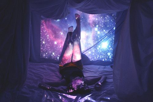 Dreamy lights in a blanket fort