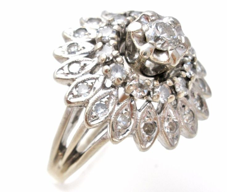 14K White Gold Diamond .75 Carat 7.7 Grams Size 9  Vintage Fine Jewelry Rings | Jewelry & Watches, Fine Jewelry, Fine Rings | eBay!