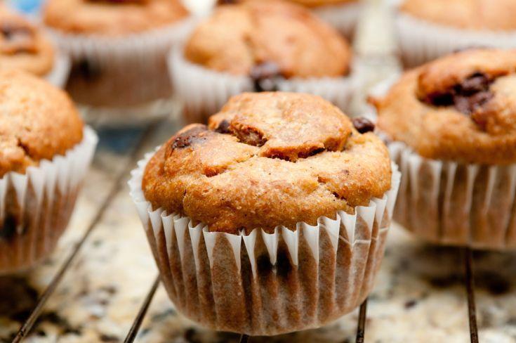 Kokosovo-banánové muffiny s kúskami čokolády
