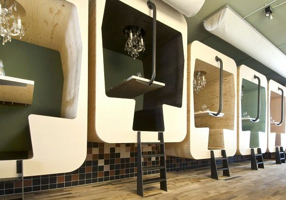 funky restaurant booths