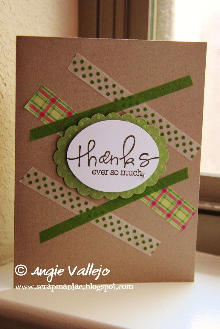 Simple washi tape card 13 best Washi