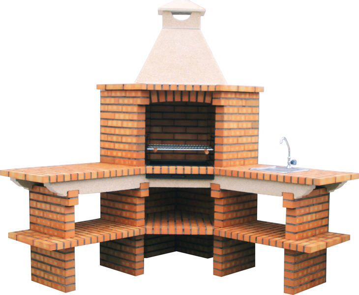 Dise asador de ladrillo patio pinterest asadores for Barbacoa diseno moderno