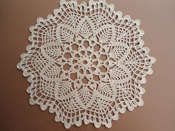 Crochet doily lace round 9 inches home decor by kroshetmania