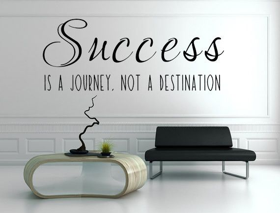 Charming Success Is A Journey Not A Destination Vinyl Wall Decal, Business Decals,  Success Wall