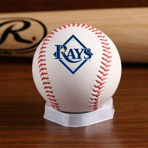 MLB Tampa Bay Devil Rays Team Logo Baseball by Licensed Products. Save 30 Off!. $6.30. Regulation size white baseball with red stitching allows your team's logo to take center stage.  Each baseball features the Rawlings logo on the back and commissioner signature on the top.