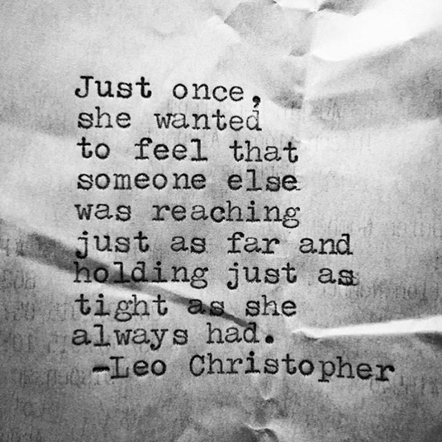 • Just Once • #LeoChristopher  My book, Sleeping In Chairs, is available worldwide through the link in my bio.