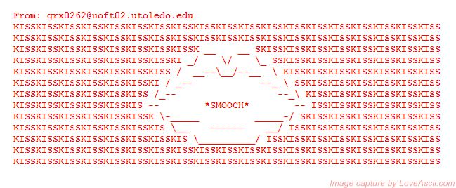 One Line Ascii Art Kiss : Best images about ascii art kisses on pinterest gone