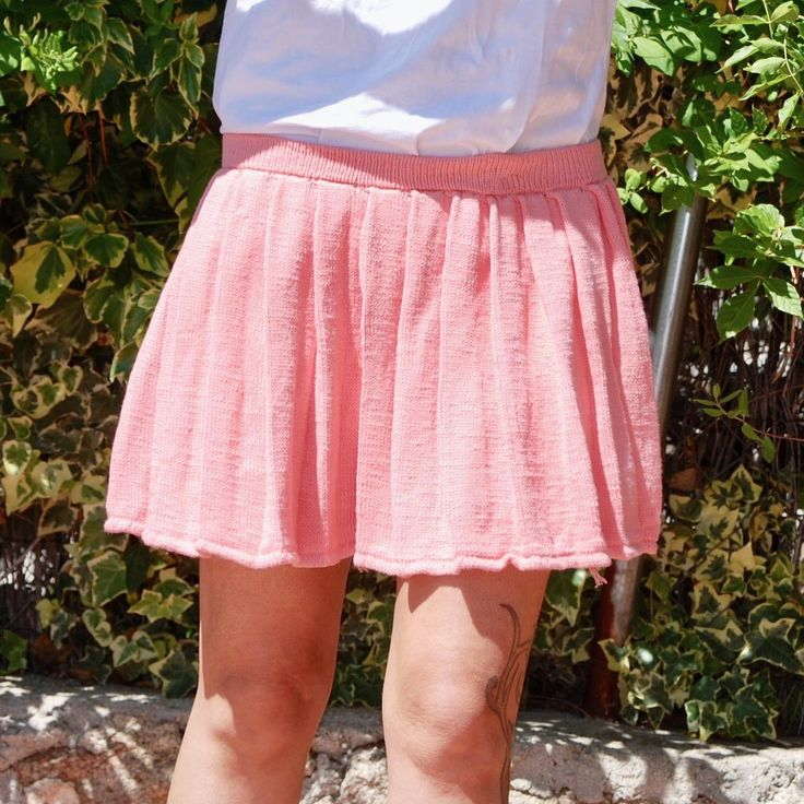 New: learn how to knit this short flared skirt on circular ...