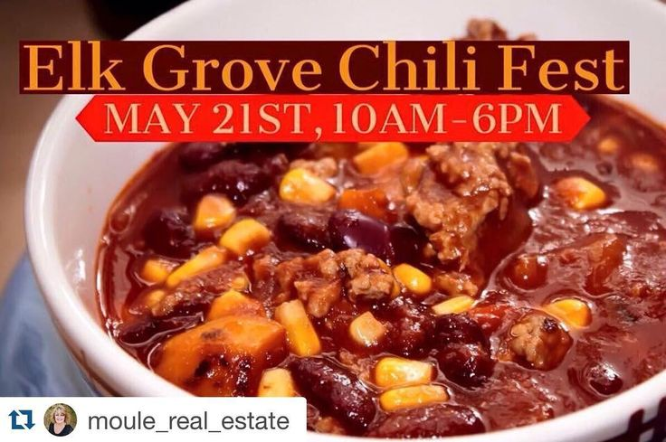 #Repost @moule_real_estate  Save the date! 9th Annual Elk Grove Chili Fest is coming to Old Town Elk Grove on May 21st from 10am-6pm. Make the best chili? Enter to WIN!  Old Town Elk Grove's Chili Festival attracts over 10000 attendees to this popular annual event. Check out the delicious chili tasting cool vendors live entertainment fun kids activities awesome food court and beer garden. by floortoceilingeg